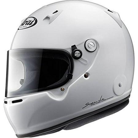 Medium Arai Helmets - Arai Mens Full-Face-Helmet-Style GP-5W M6 SAH-2015 Helmet (White, Medium)