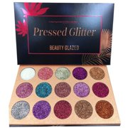 15 Color Diamond Glitter Eyeshadow Palette Highly Pigmented and Long-Lasting Makeup Pallete
