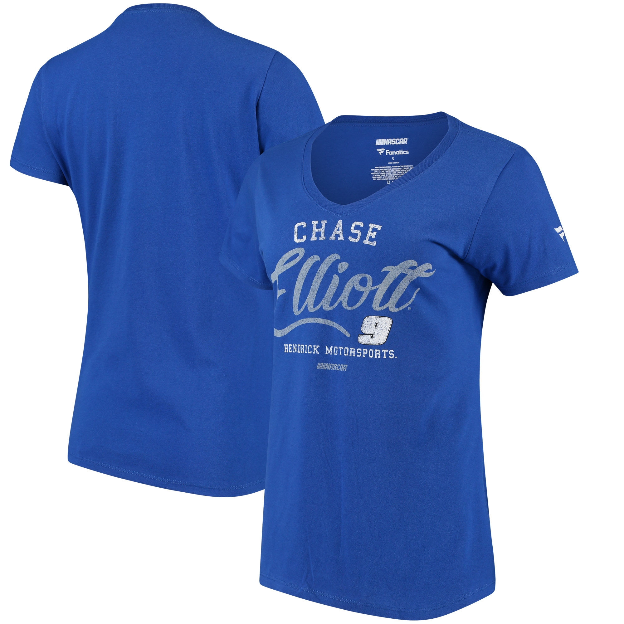 Chase Elliott Fanatics Branded Women's Driver Team V-Neck T-Shirt - Royal