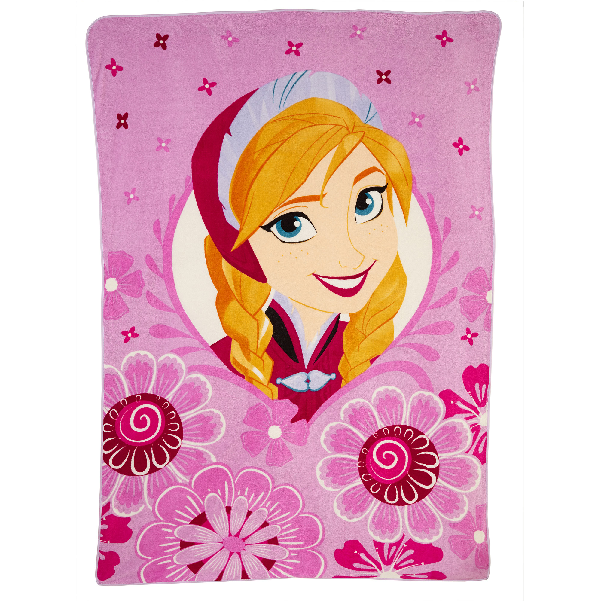 "Disney Frozen 'Anna in Spring' 90"" x 62"" Twin Blanket"