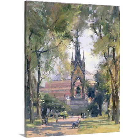 Great BIG Canvas | Trevor Chamberlain Premium Thick-Wrap Canvas entitled Summer, Albert Memorial, 1989