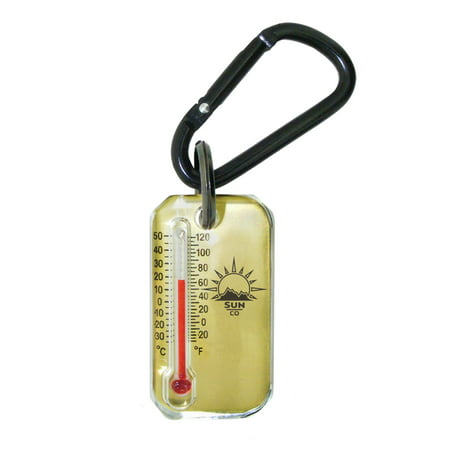Brass Zip-o-gage - Zipperpull Thermometet for Jacket, Parka, or Pack | Outdoor Thermometer with Carabiner and Windchill Chart on Back ()