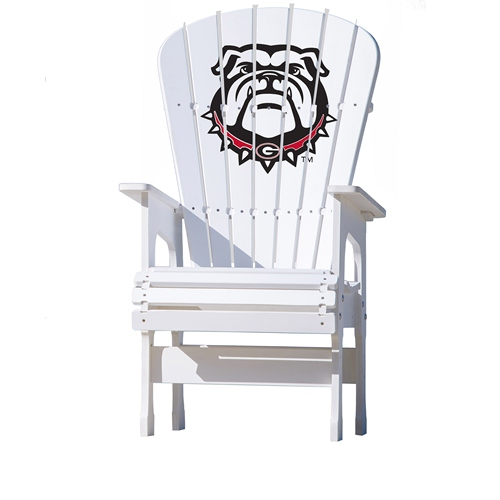 NCAA High Back Chair by Key Largo Adirondack - University of Georgia, Bulldog Logo