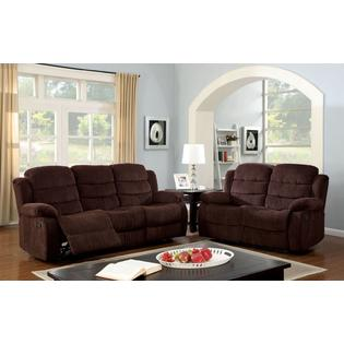 Athens Sofa & Loveseat Upholstered in Chenille Fabric