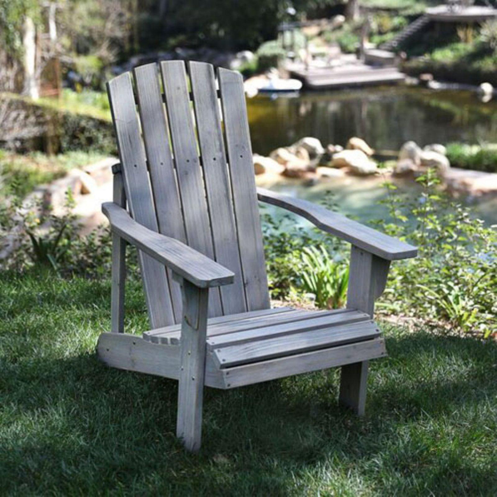 Lakewood Rustic Adirondack Chair Vintage Gray by Shine Company