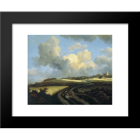 Road through Corn Fields near the Zuider Zee 20x24 Framed Art Print by Jacob Isaakszoon van -