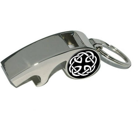 Celtic Knot, Plated Metal Whistle Bottle Opener Keychain Key