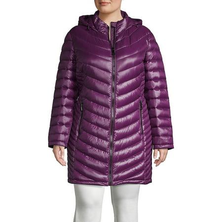 Plus Long Packable Puffer Coat