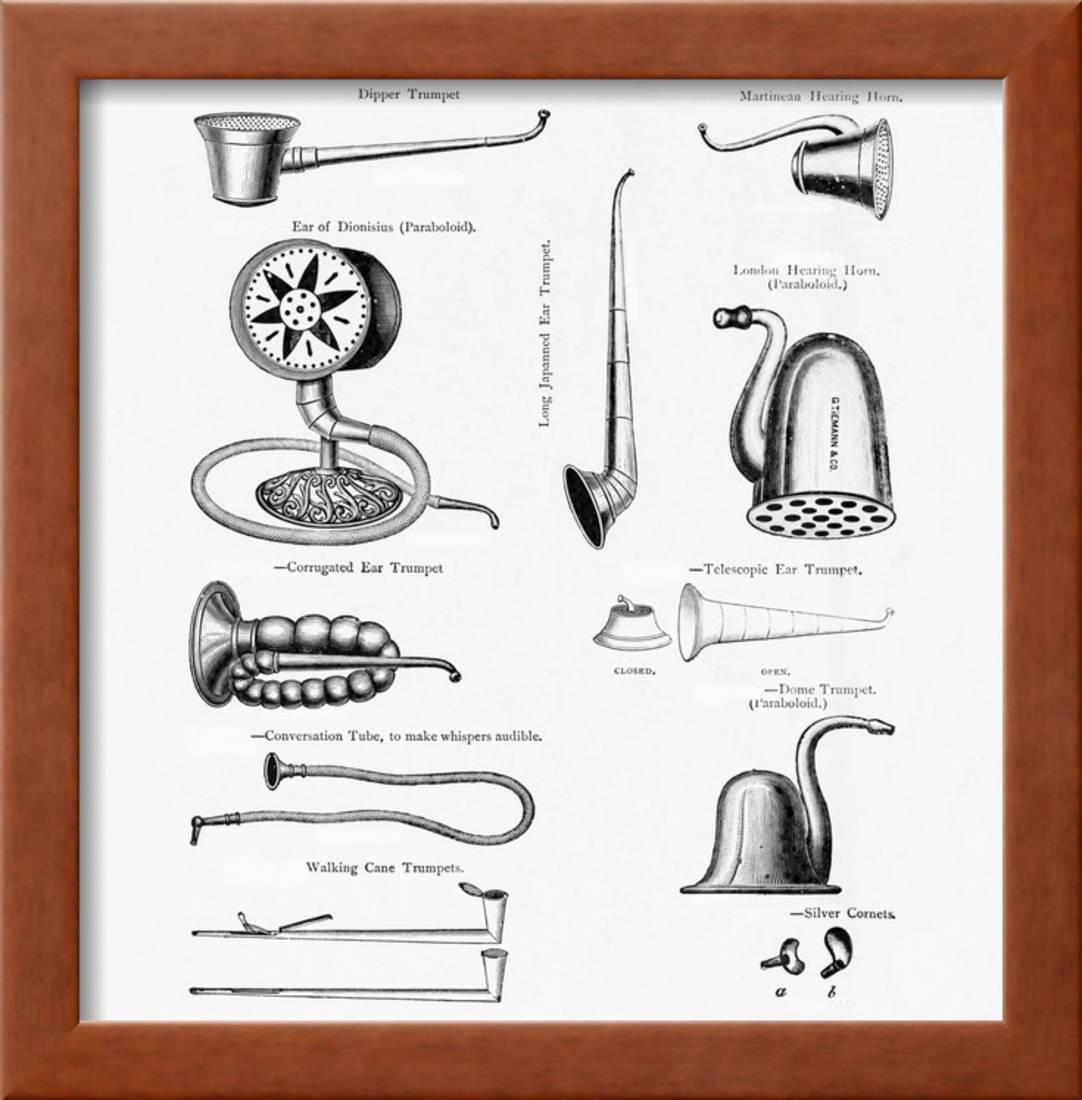 A Corrugated Ear Trumpet Framed Print Wall Art