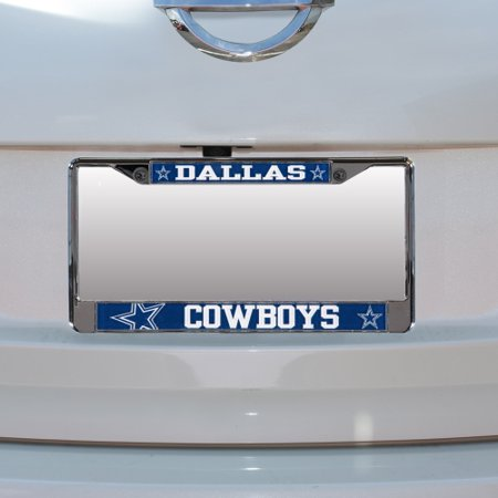 Dallas Cowboys Small Over Large Mega License Plate Frame - No