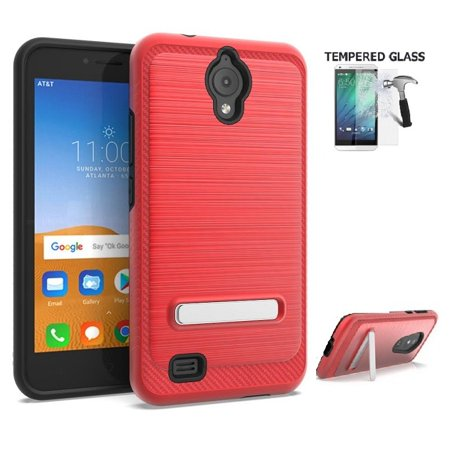 new style 5bcb2 5a342 AT&T AXIA Case, Cricket Vision Case, Alcatel AXIA Phone Case, Phone Case  for AT&T PREPAID AT&T Axia, Dual Layer Metallic Brushed Design Shockproof  ...