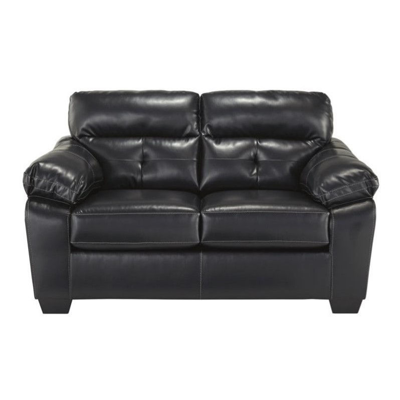 Ashley Bastrop Leather Loveseat in Midnight by Ashley Furniture