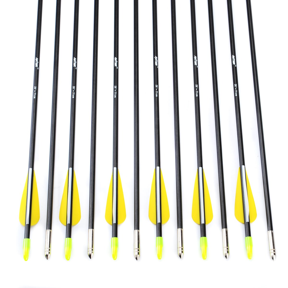 12X28/'/' Fiberglass Arrows Archery OD 7MM FOR Children Outdoor Practice Shoot
