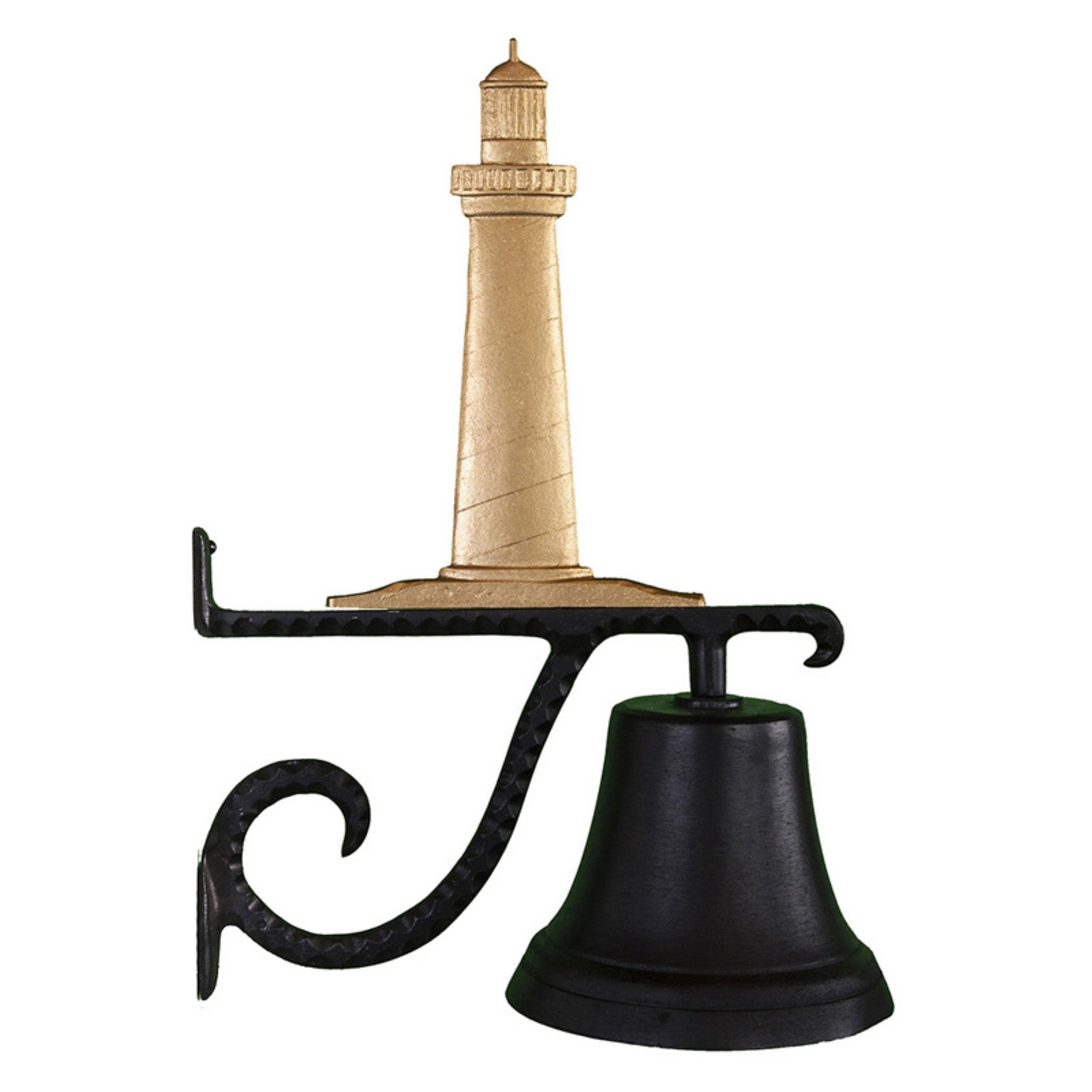 Cast Bell with Gold Cape Cod Lighthouse Ornament