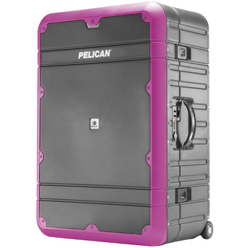 "Pelican Progear Luggage 30"" with Travel System Gray with Purple"