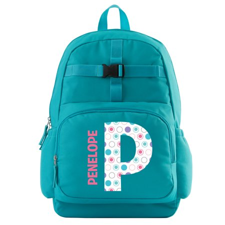 Personalized Pretty Pattern Backpack - Aqua - Personalized Kids Back Packs