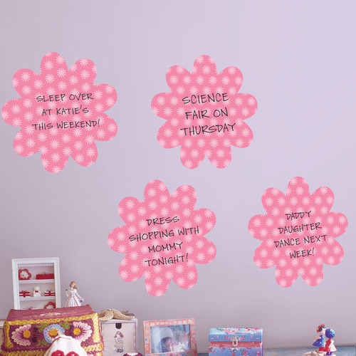 Brewster Home Fashions WallPops Dry-Erase Daisy Whiteboard Wall Decal (Set of 4)