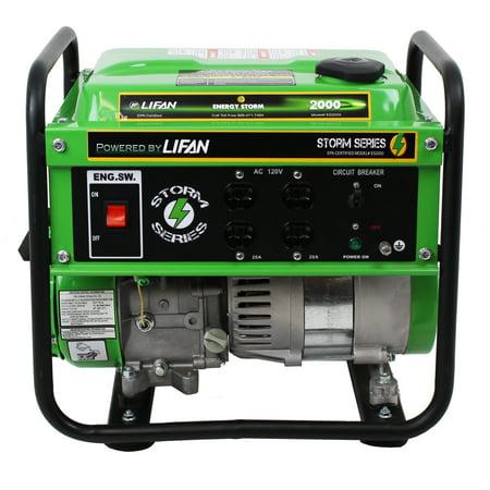 Lifan Energy Storm 2000 Ca  California Sales Compliant   1700Watt 79Cc  4 Stroke Industrial Grade  Recoil Start  Ohv Gasoline Powered Portable Generator