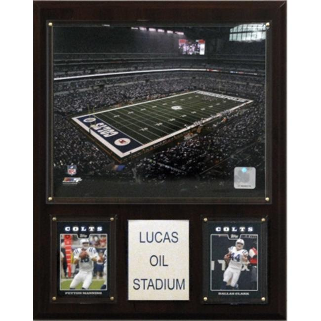 C & I Collectables 1215LUCOIL NFL Lucas Oil Stadium Plaque