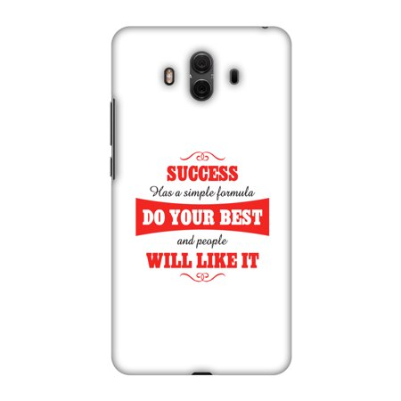 Huawei Mate 10 Case, Premium Handcrafted Designer Hard Shell Snap On Case Printed Back Cover with Screen Cleaning Kit for Huawei Mate 10, Slim, Protective - Success Do Your