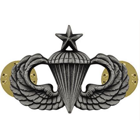 Army Senior Parachute Badge (Oxidized Finish)