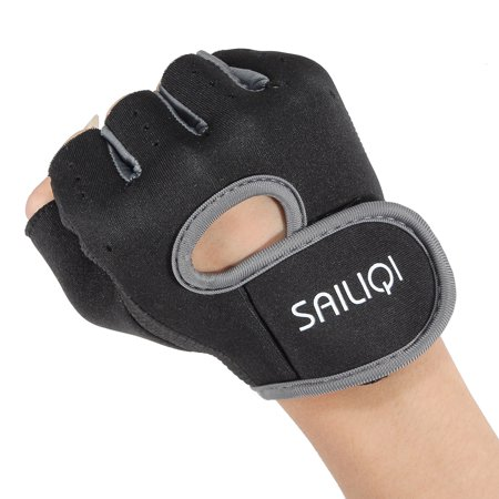 Sports Fitness Training Weightlifting Slip Boating Half Finger Glove  - image 7 of 8