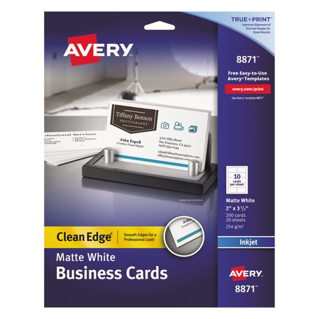 Avery true print clean edge business cards inkjet 2 x 3 12 white avery true print clean edge business cards inkjet 2 x 3 12 wajeb Images