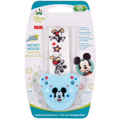 Nuk Disney Mickey Mouse Fashion Pacifier Clip