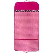 Sassi Design Girls Fuchsia Pink Dots Hearts Blank Dance Garment Bag