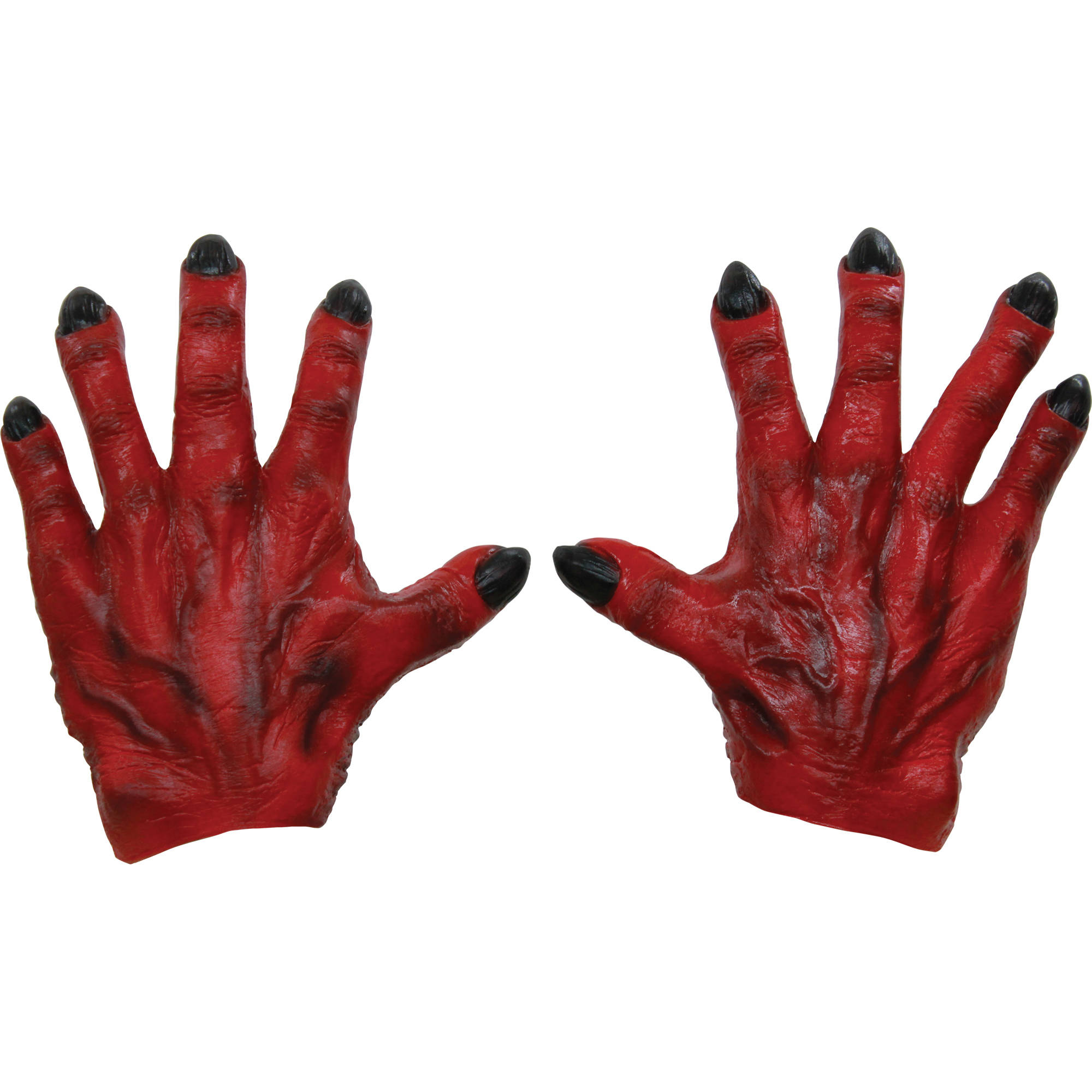 Red Monster Latex Hands Adult Halloween Accessory