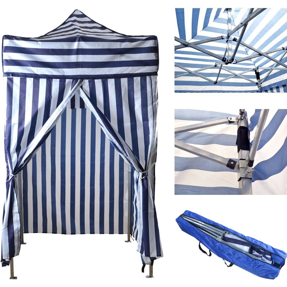 New MTN-G Portable Cabana Stripe Tent Privacy Changing Room Pool Camping Outdoor