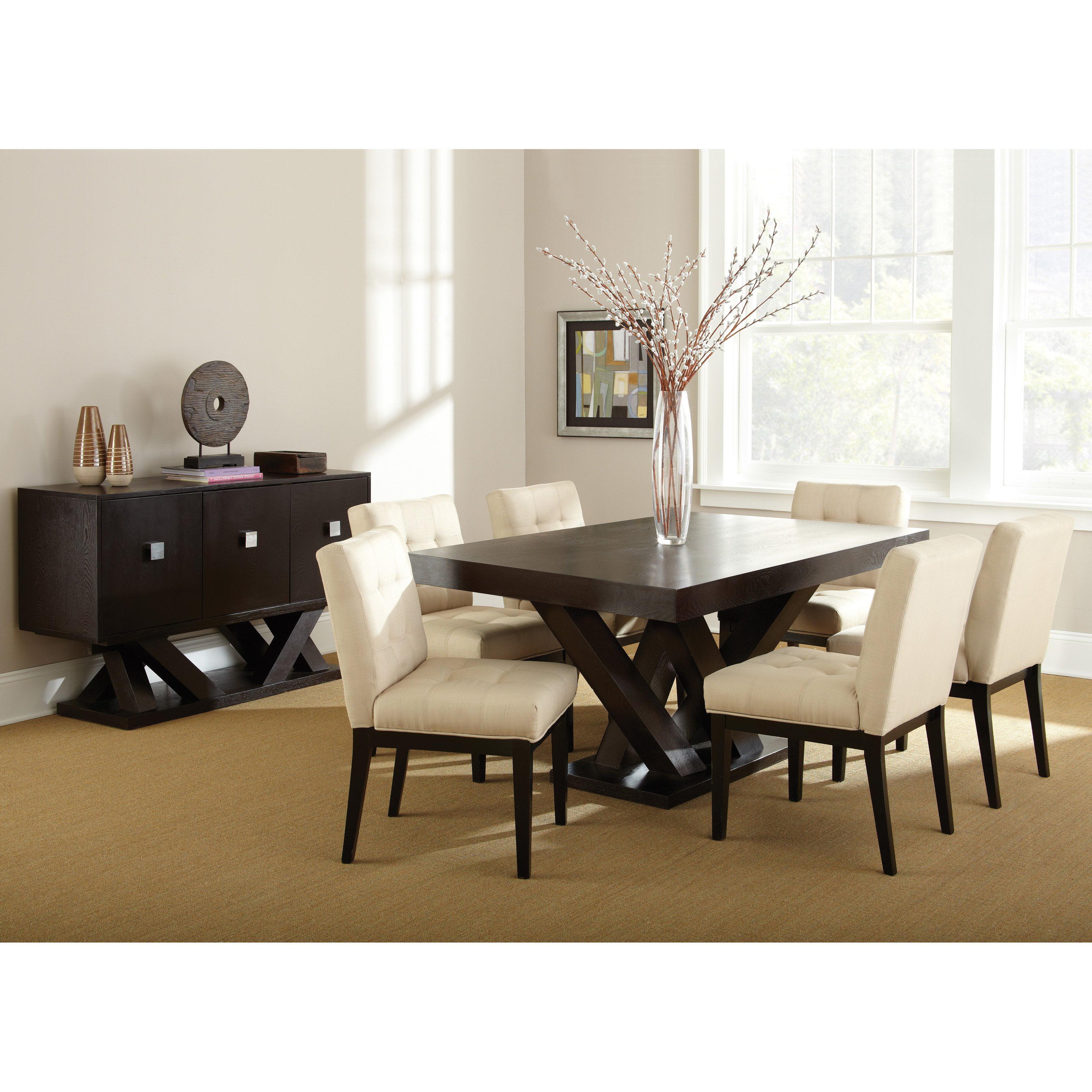 Steve Silver Tiffany Dining Chairs   Espresso / Beige   Set Of 2    Walmart.com