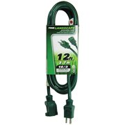 Prime EC880612 Green Extension Cord, 12 ft.