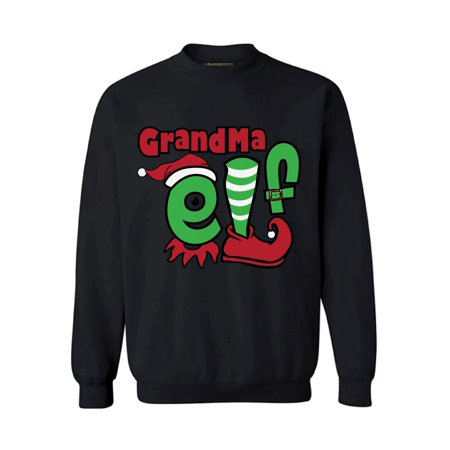 Awkward Styles Grandma Elf Sweashirt Christmas Elf Sweater Ugly Christmas Sweater Women Matching Family Christmas Pajamas Elf Suit for Grandmom Funny Christmas Gifts Tacky Christmas Ugly - Funny Ugly Christmas Sweaters For Men