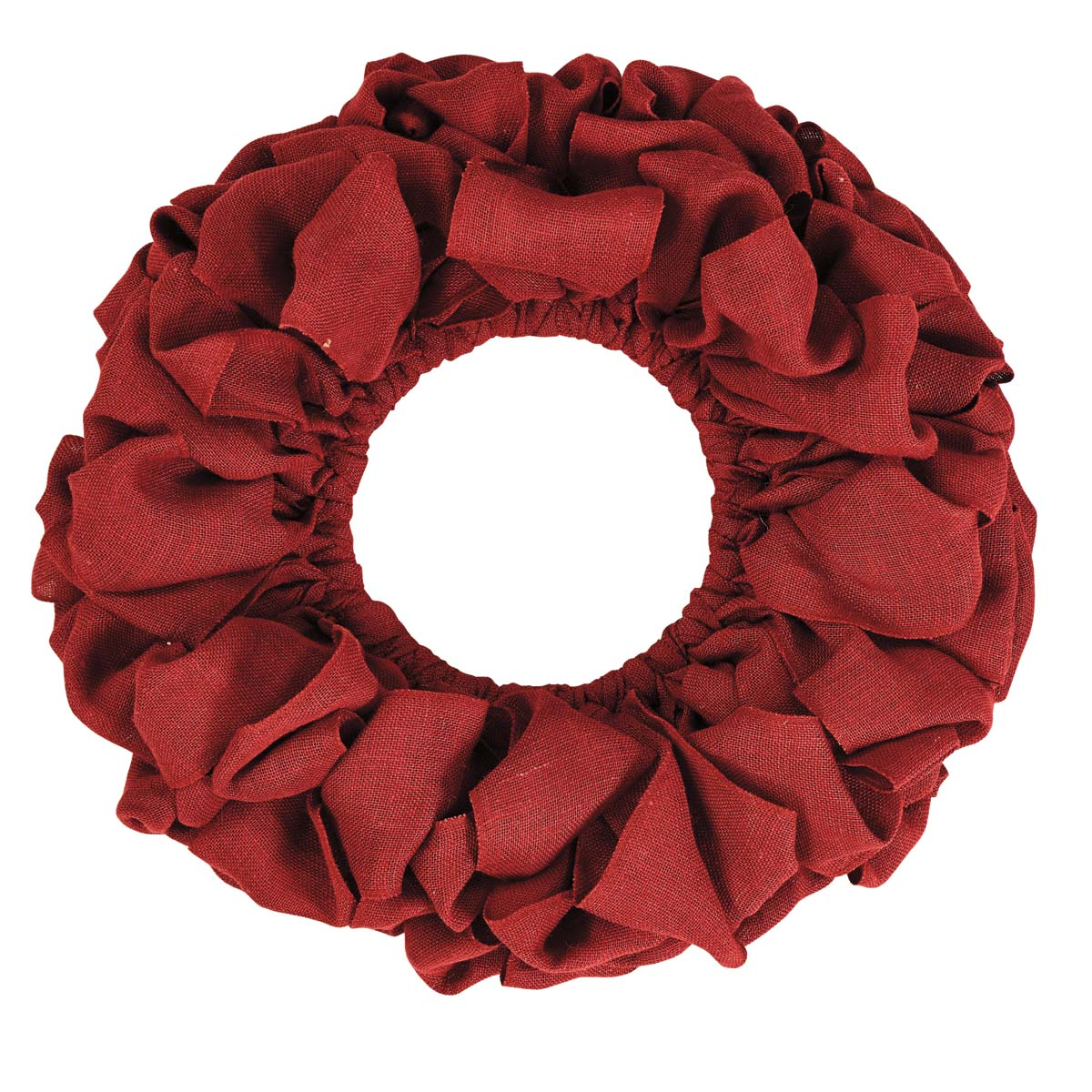 "Natural Tan Farmhouse Christmas Decor Burlap Wreath Twine Jute Metal Frame Round 15"" Diameter Wreath"