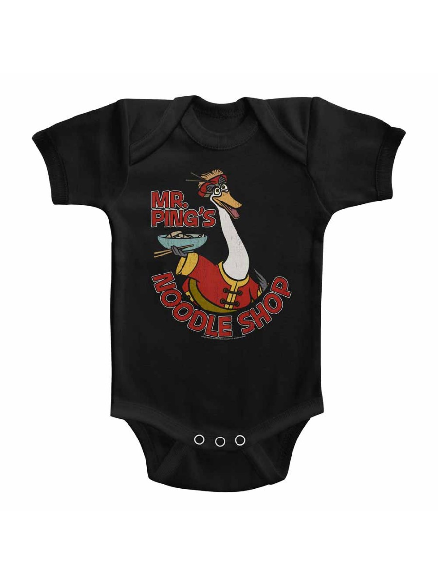 Kung Fu Panda Movie Noodleshop Solid Infant Baby Romper Creeper Snapsuit