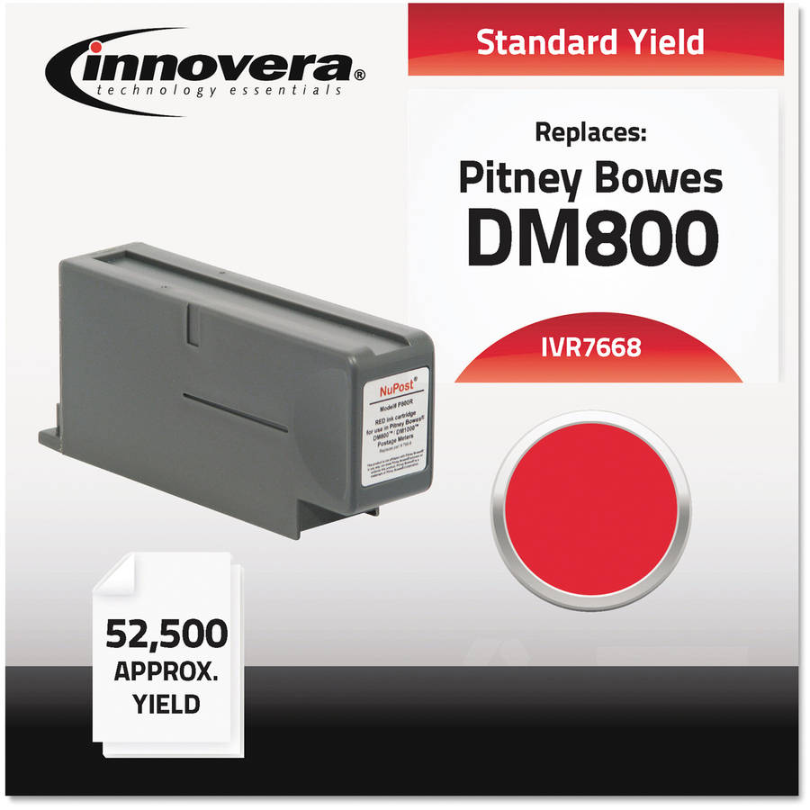Innovera Compatible with 766-8 Postage Meter, Red