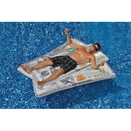 Swimline Floating Inflatable Swimming Pool $100 Money Water Swim Float Raft - image 2 of 5