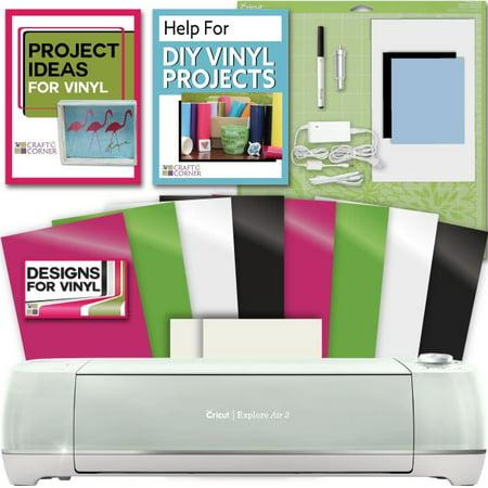Cricut Explore Air 2 Machine Bundle Vinyl  Transfer Paper  Designs   Guide