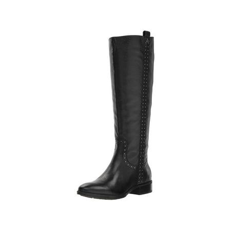 Sam Edelman Women's Prina 2 Knee High Boot, Black Leather, Size 10.0 ()