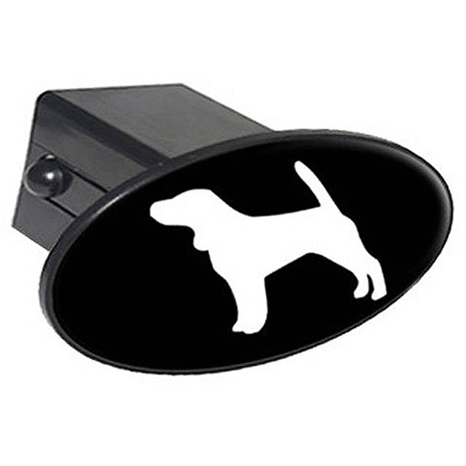 """Beagle - Dog 2"""" Oval Tow Trailer Hitch Cover Plug Insert"""