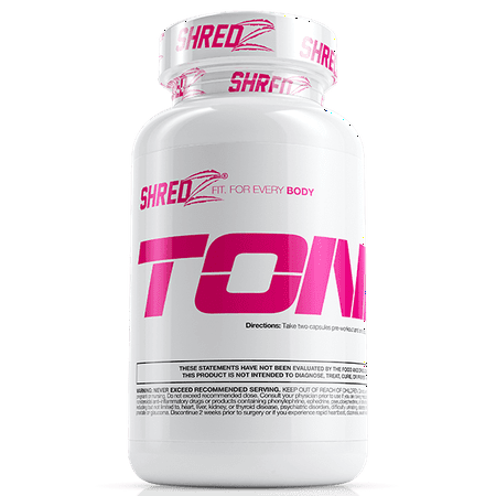Shredz Toner Supplement Pills For Women  Lean Muscle  No Bloating  Boosts Endurance And Enhances Recovery  30 Day Supply