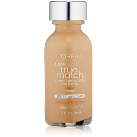 L'Oreal True Match Super Blendable Makeup, Natural Buff [N3], 1 oz (Pack of 2)