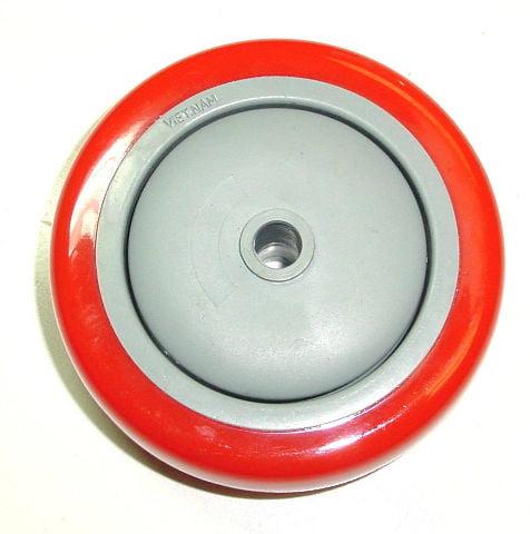 "DuraTek 4"" x 1-1/4"" Polyurethane Wheel with 3/8"" ID 250# Cap"