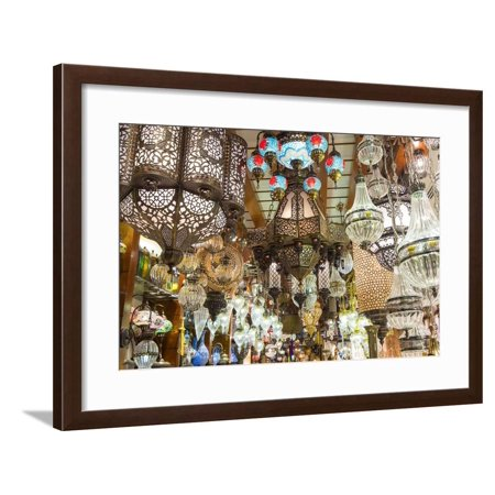 Lights in Store, Dubai Mall, Dubai, United Arab Emirates, Uae Framed Print Wall Art By Peter (Summit Mall Stores)