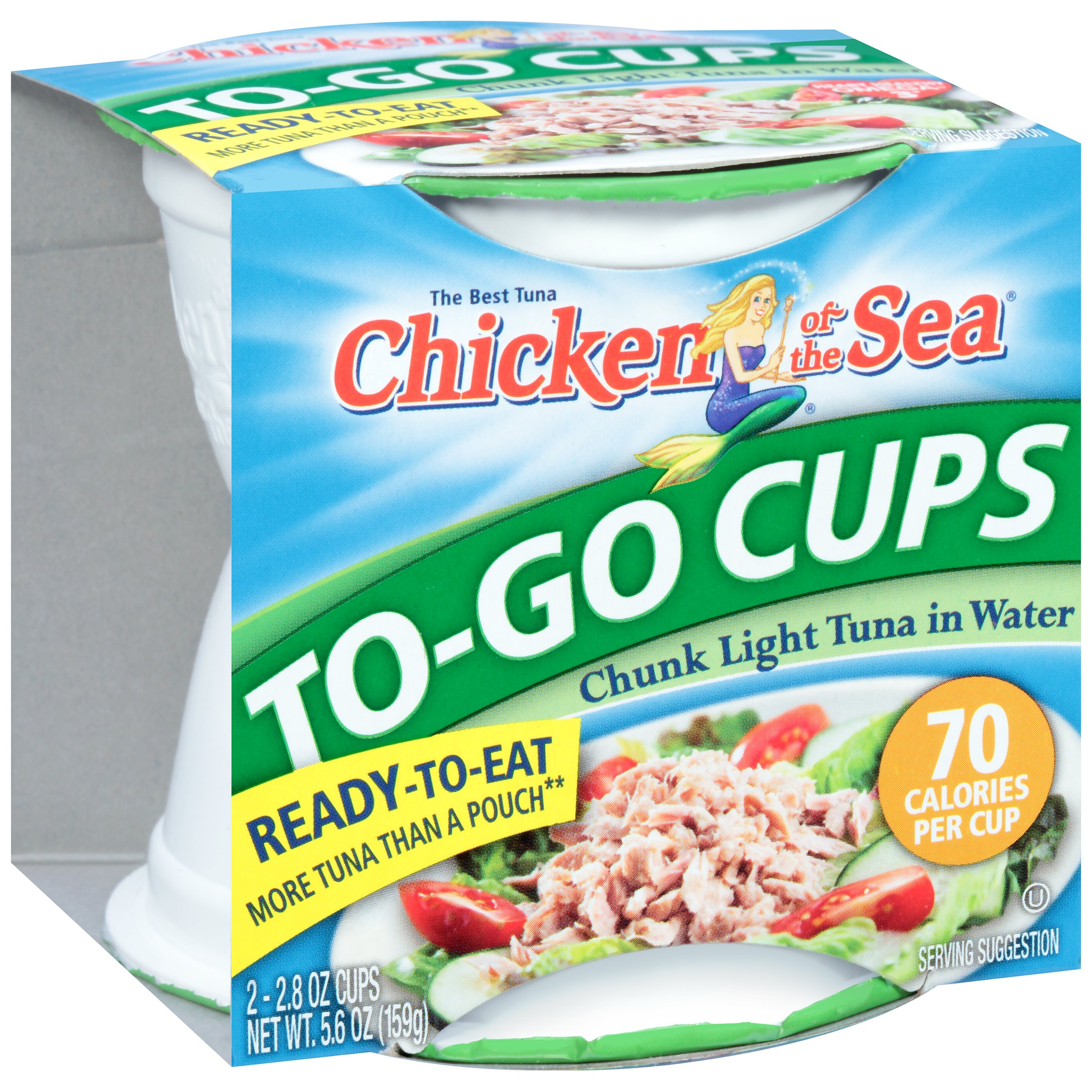 Chicken of the Sea® Chunk Light Tuna in Water 2-2.8 oz. To-Go Cups 300