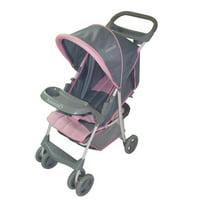 Convenient stroller - Pink/Grey