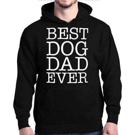 Shop4Ever Men's Best Dog Dad Ever Father's Day Hooded Sweatshirt (Best Of Hoodie Allen)