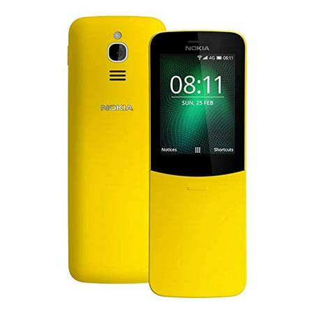 Nokia 8110 4G Duos AT&T Locked KaiOS Phone - Banana Yellow