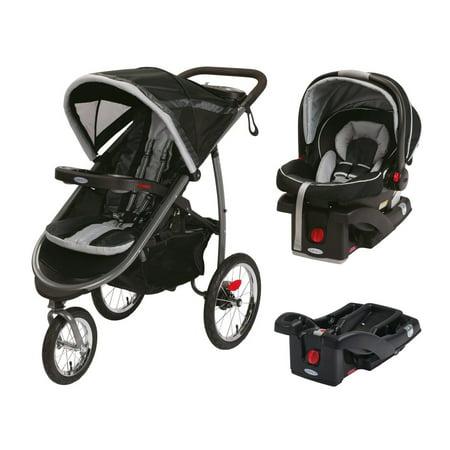 graco jogging stroller with snugride car seat extra base travel system gotham. Black Bedroom Furniture Sets. Home Design Ideas
